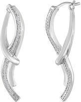 JCPenney FINE JEWELRY 1/8 CT. T.W. Diamond Sterling Silver Linear Earrings