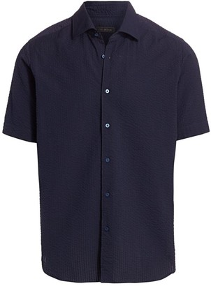 Saks Fifth Avenue COLLECTION Seersucker Sport Shirt
