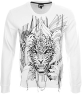 Just Cavalli Tiger Sweatshirt White