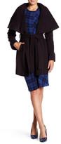 Tahari Marylin Wool Blend Tie Coat