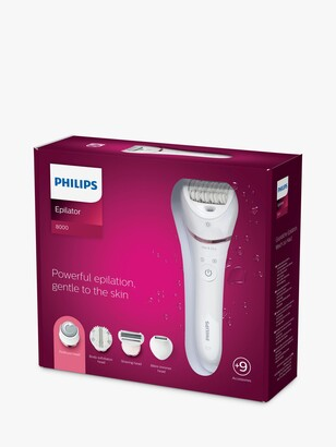 Philips BRE740/11 Series 8000 Wet and Dry Epilator, 8 attachments
