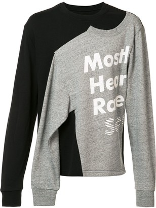 Mostly Heard Rarely Seen Logo Print Slit Sweatshirt