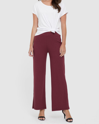 Bamboo Body - Women's Pants - Ribbed Bamboo Pants - Size One Size, S at The Iconic