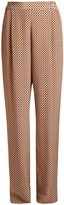Stella McCartney Cicely geometric-print wide-leg silk trousers