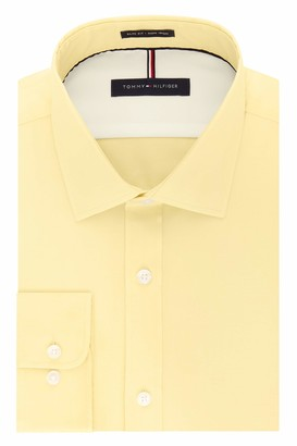 Tommy Hilfiger Mens Dress Slim Fit Non Iron Solid Shirt