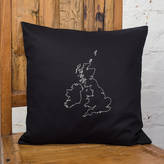 Thread Squirrel Personalised Map Cushion Cover