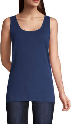 ST. JOHN'S BAY Womens Scoop Neck Sleeveless Tank Top