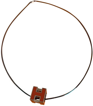 Hermã ̈S HermAs Clic H Orange Gold plated Necklaces