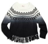 Design History Girl's Dip-Dye Fringe Sweater
