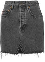 Vetements + Levi's Frayed Denim Mini Skirt - Black
