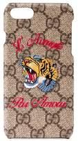 Gucci L'Aveugle Par Amour Gg Tiger Iphone 7 Case - None