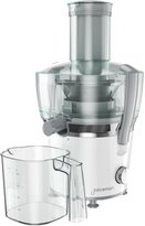 Juiceman Power Plus Compact Juicer with Citrus Attachment - White/Gray