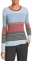Theory Women's Mirzi Stripe Rib Knit Merino Sweater