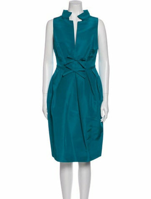 Oscar de la Renta 2010 Knee-Length Dress Blue