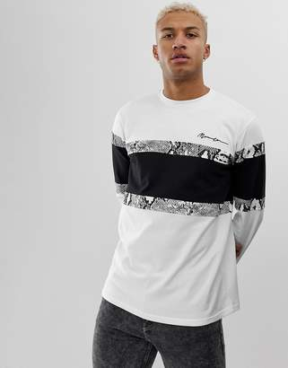 Mennace long sleeve t-shirt with snake print