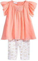 First Impressions 2-Pc. Smocked Tunic & Butterfly-Print Leggings Set, Baby Girls (0-24 months), Created for Macy's