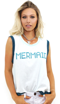 Wildfox Couture BFF Mermaid Barback Tank in Saltwater Taffy