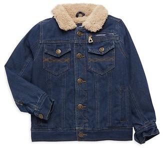 Urban Republic Little Boy's Faux Fur Collar Denim Jacket