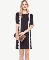 Ann Taylor Scalloped Sweater Dress
