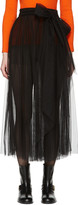 MSGM Black Belted Tulle Skirt