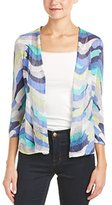Nic+Zoe Women's Stripe Scope Cardy