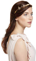 Jennifer Behr Crystal Flower & Golden Leaf Headband