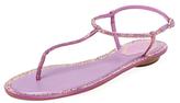 Rene Caovilla Embellished T-Strap Sandal