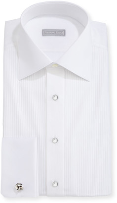 Stefano Ricci Pleated Tuxedo Shirt