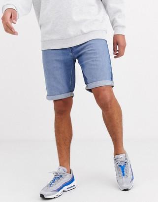 Lee Jeans shorts 5 pocket denim short in light blue wash
