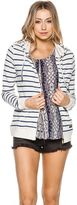 Roxy Signature Stripe Zip Up Hoodie
