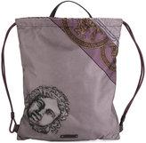 Versace printed drawstring backpack - men - Leather/Acrylic/Polyamide/Polyurethane - One Size