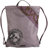 Versace printed drawstring backpack - men - Polyamide/Polyurethane/Acrylic/Leather - One Size
