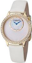 Stuhrling Original Women's Lifestyle Radiant Swiss Quartz White Dial Watch 336.123P2