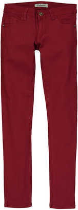 Couture Miss Kitty Women's Denim Pants and Jeans Burgundy - Burgundy Low-Rise Skinny Jeans - Juniors