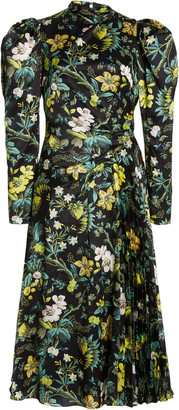 Erdem Irwin Floral Silk Midi Dress