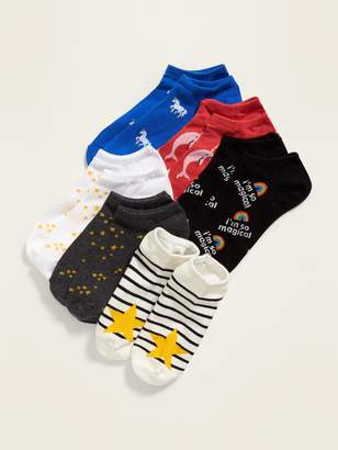 Old Navy Printed Ankle Socks 6-Pack for Women