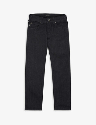 Emporio Armani Straight-leg denim-stretch jeans 4-16 years