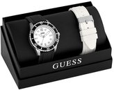 GUESS Black and Silver-Tone Swarthy Watch Set