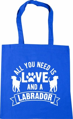 Hippowarehouse All you need is love and a Labrador Tote Shopping Gym Beach Bag 42cm x38cm 10 litres