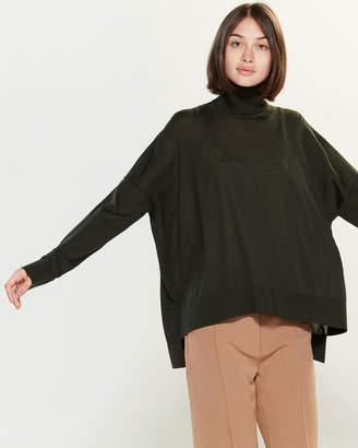 Roberto Collina Long Sleeve Wool Turtleneck Sweater