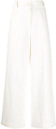 Low Classic High-Rise Wide Leg Trousers