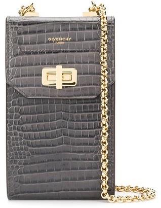 Givenchy Crocodile-Effect Phone Crossbody Bag