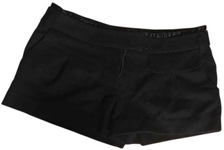 Maje Black Wool Shorts for Women