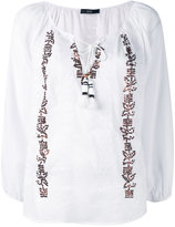 Steffen Schraut embroidered sequin blouse - women - Cotton - 34