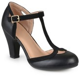 Journee Collection Women's Olina T-Strap Round Toe Mary Jane Pumps
