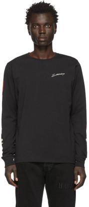 Saturdays NYC Black Moonflower Long Sleeve T-Shirt