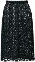 Isabel Marant perforated midi skirt