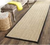 Safavieh Natural Fiber Collection NF115C Natural and Black Seagrass Runner, 2 feet 6 inches by 14 feet