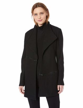 Anne Klein Women's Open Front Boiled Wool Jacket