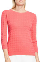 Vince Camuto Petite Dot Stitch Textured Sweater